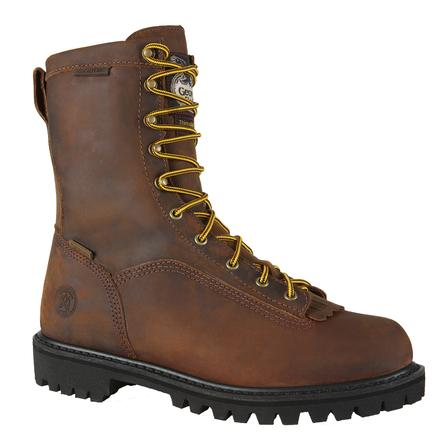 Georgia Insulated Waterproof Logger Work Boots, , large