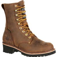 Georgia Boot Steel Toe Waterproof Insulated Logger Work Boot, , medium