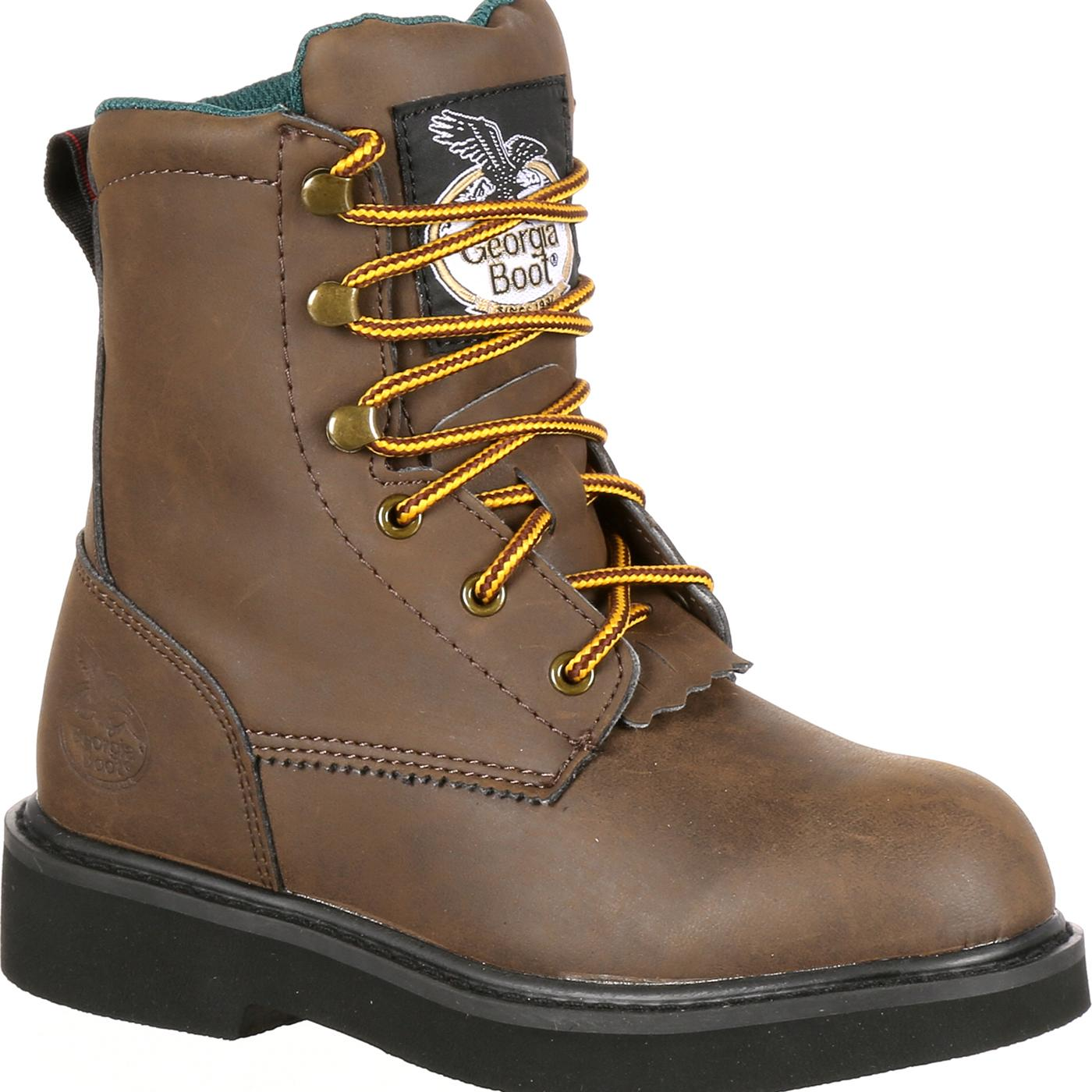 Georgia Boot: Kids' Comfortable Lacer Work Boots, #G097