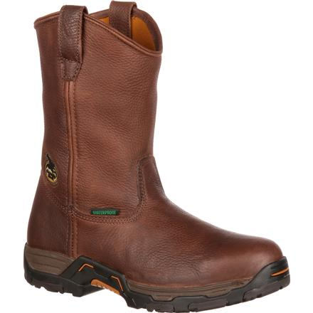 Georgia Boot Diamond Trax Steel Toe Waterproof Work Wellington, , large