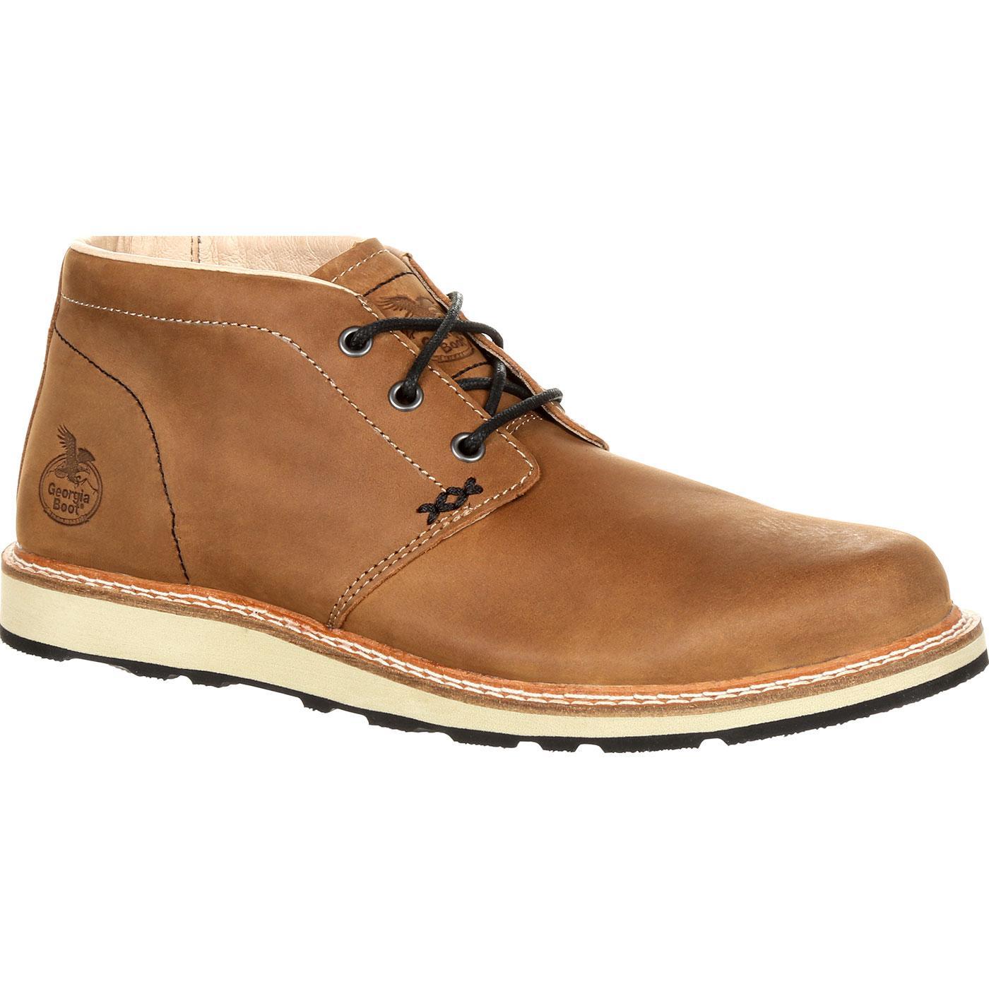 Georgia Boot Small Batch Chukka Brown Leather Boot
