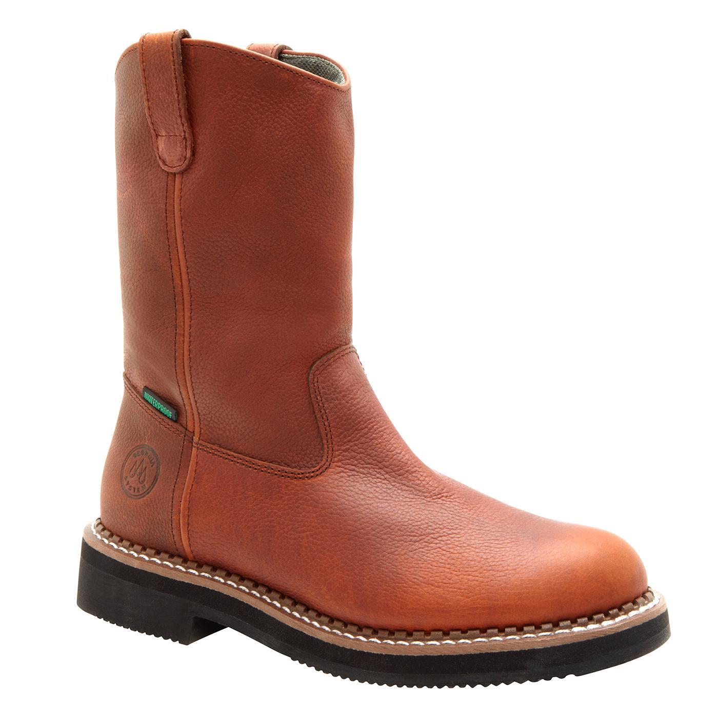 """Men's 12"""" Waterproof Pull-On Steel Toe Work Boots ..."""