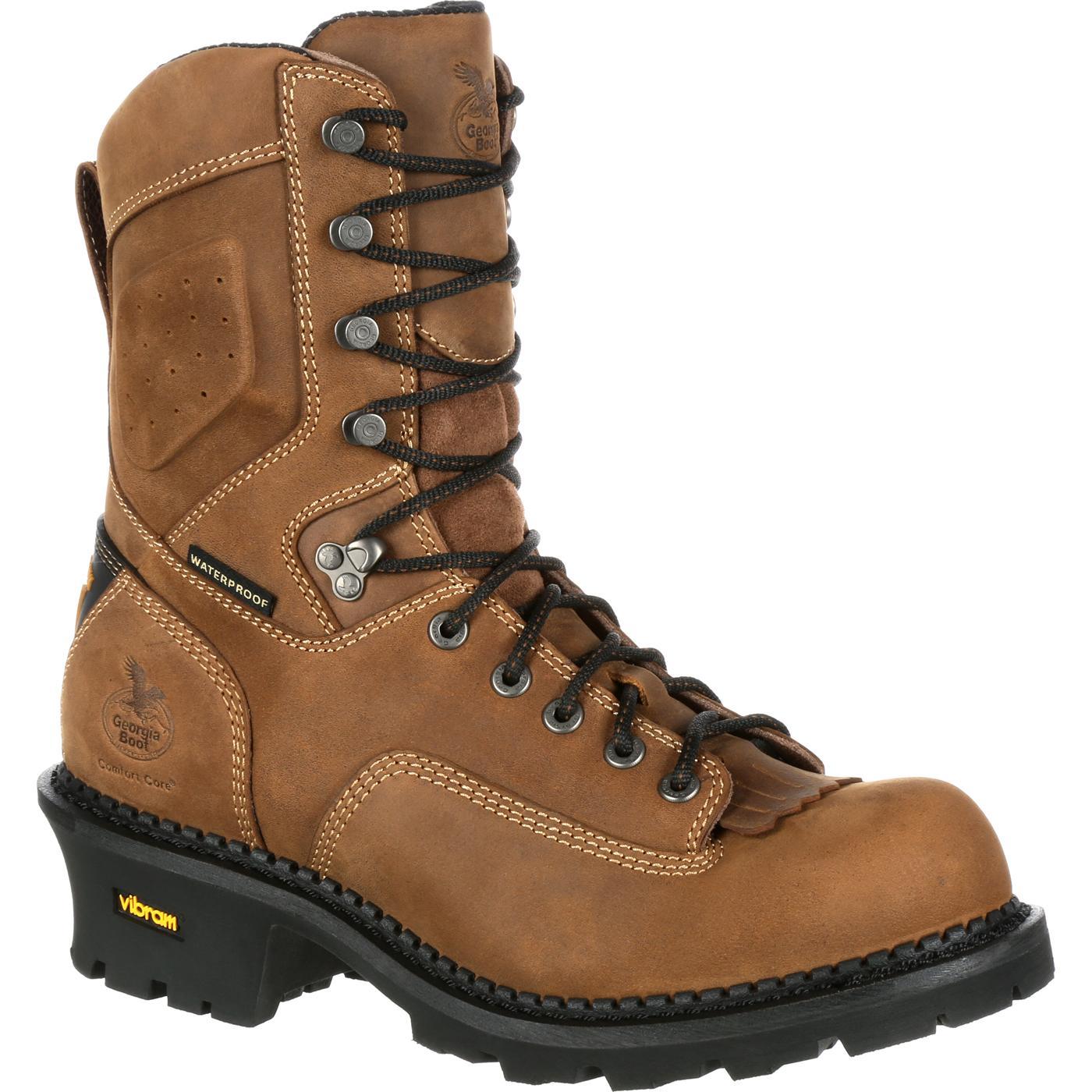 Georgia Boot Comfort Core Logger Waterproof Work Boots