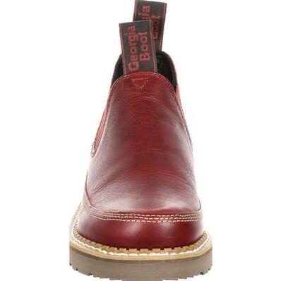 Georgia Giant Women's Red Leather Romeo Shoe, , large