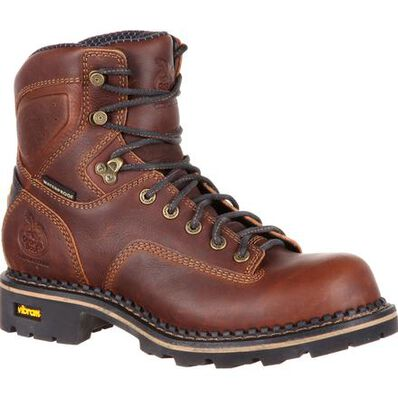 Georgia Boot Comfort Core Low Heel Logger Waterproof Work Boot, , large