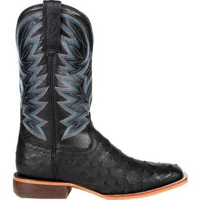 Durango® Premium Exotic Full-Quill Ostrich Black Western Boot, , large