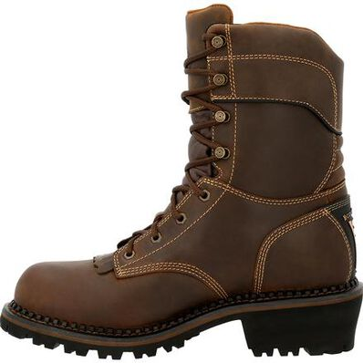 Georgia Boot AMP LT Logger Composite Toe Insulated Waterproof Work Boot, , large
