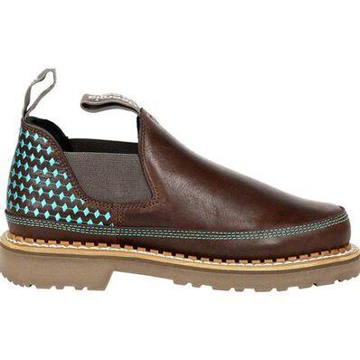 Georgia Boot Georgia Giant Women's Brown and Teal Romeo Shoe, , large