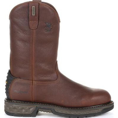 Georgia Boot Carbo-Tec LT Waterproof Pull-on Work Boot, , large