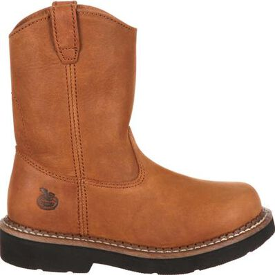 Georgia Boot Childrens G024 Side-Zip Wellington Boots,Soggy Brown,13.5 M