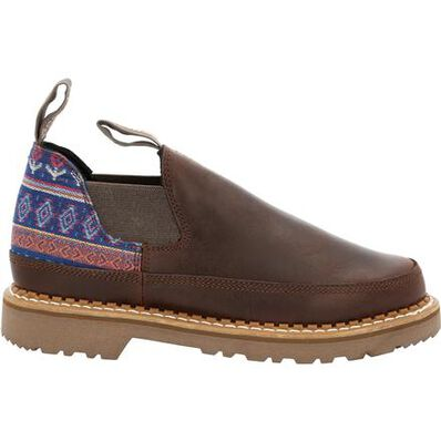 Georgia Boot Women's Brown and Blue Romeo Shoe, , large