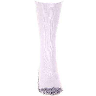 Georgia Boot Reinforced Crew Sock, WHITE, large