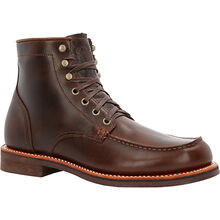 "Small Batch 6"" Moc-toe Stacked Leather Boots"
