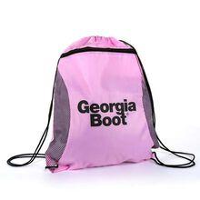 Georgia Boot Logo Pink Drawstring Bag