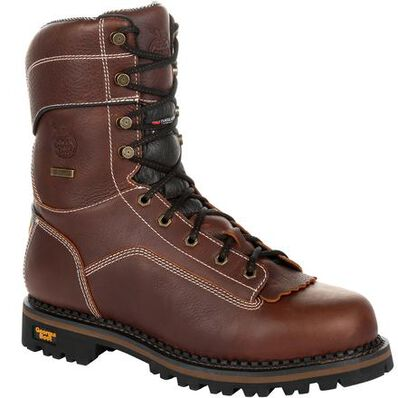 Georgia Boot AMP LT Logger Waterproof 400G Insulated Work Boot, , large