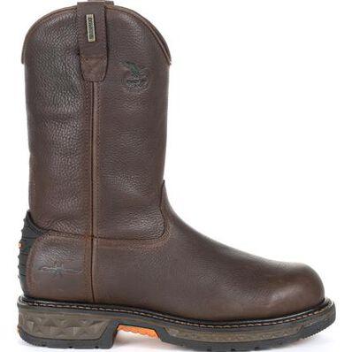 Georgia Boot Carbo-Tec LT Steel Toe Waterproof Pull-On Work Boot, , large