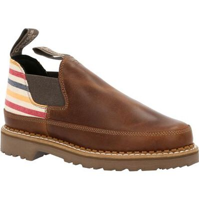 Georgia Boot Women's Brown and Stripe Romeo Shoe, , large
