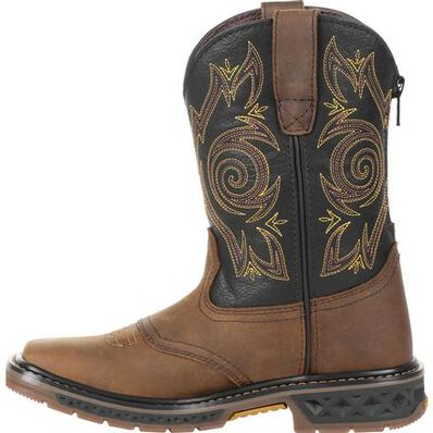 Georgia Boot Carbo-Tec LT Big Kids Pull-On Saddle Boot, , large