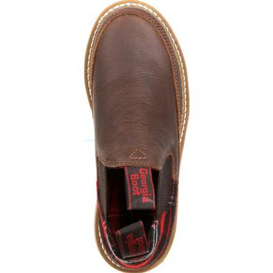 Georgia Giant Women's Brown and Plaid Romeo Shoe, , large