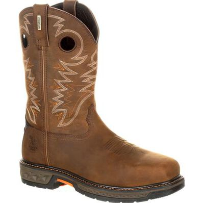 Georgia Boot Carbo-Tec LT Alloy Toe Waterproof Pull-On Boot, , large