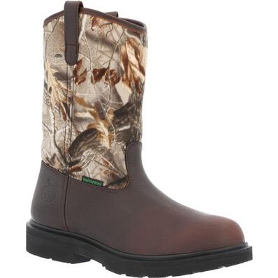 Georgia Boot Farm and Ranch Waterproof Camo Pull-On Boot, , large