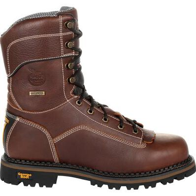 Georgia Boot AMP LT Logger Composite Toe Waterproof 400G Insulated Work Boot, , large