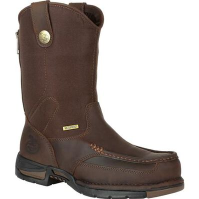 Georgia Boot Athens Waterproof Pull On Work Boot, , large