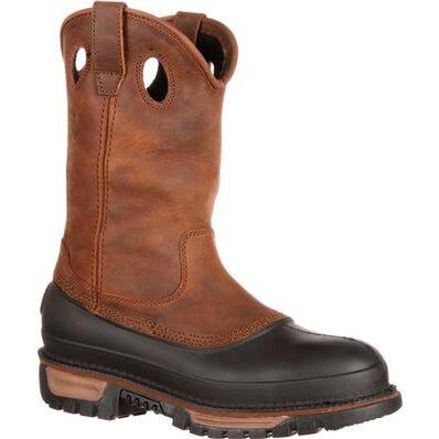 Georgia Boot Muddog Steel Toe Waterproof Wellington, , large