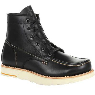 Georgia Boot Small Batch Black Wedge Boot, , large