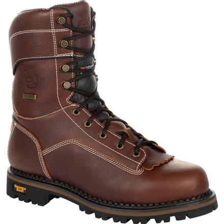 Georgia Boot AMP LT Logger Composite Toe Waterproof 400G Insulated Work Boot
