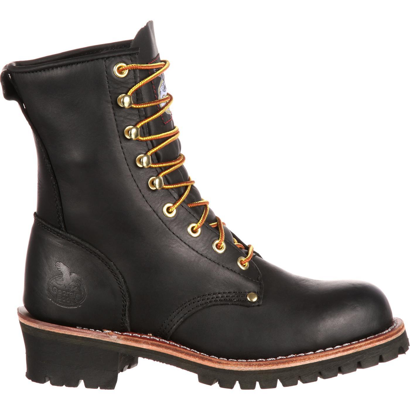 Georgia Boot Men S Steel Toe Black Logger Work Boot