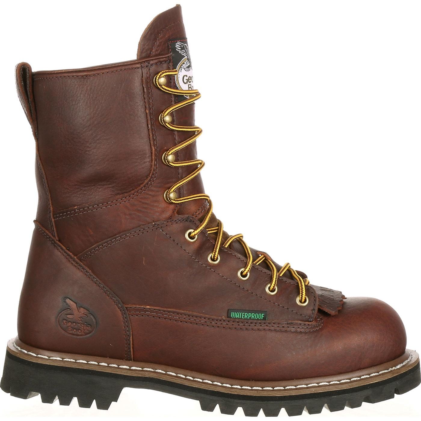 Georgia Steel Toe Waterproof Lace-To-Toe Work Boot, G103