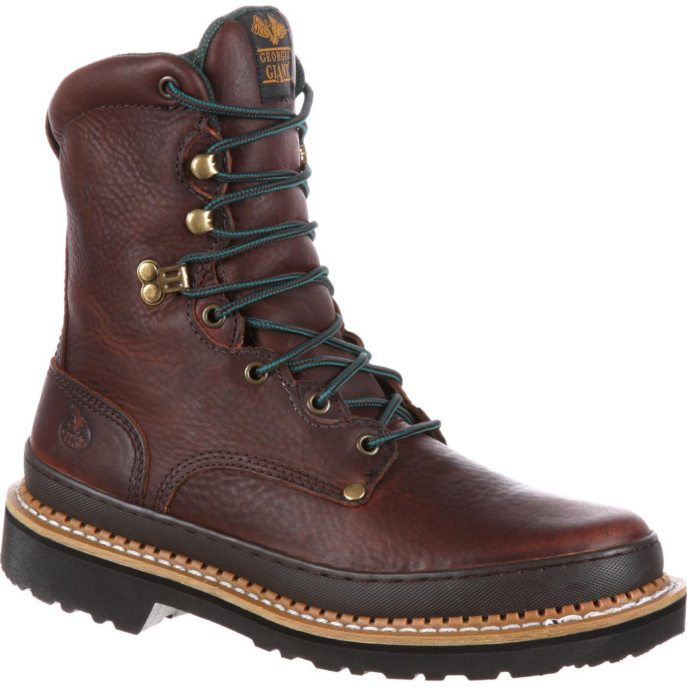 Georgia Giant Men's Steel Toe Work Boots, #G8374