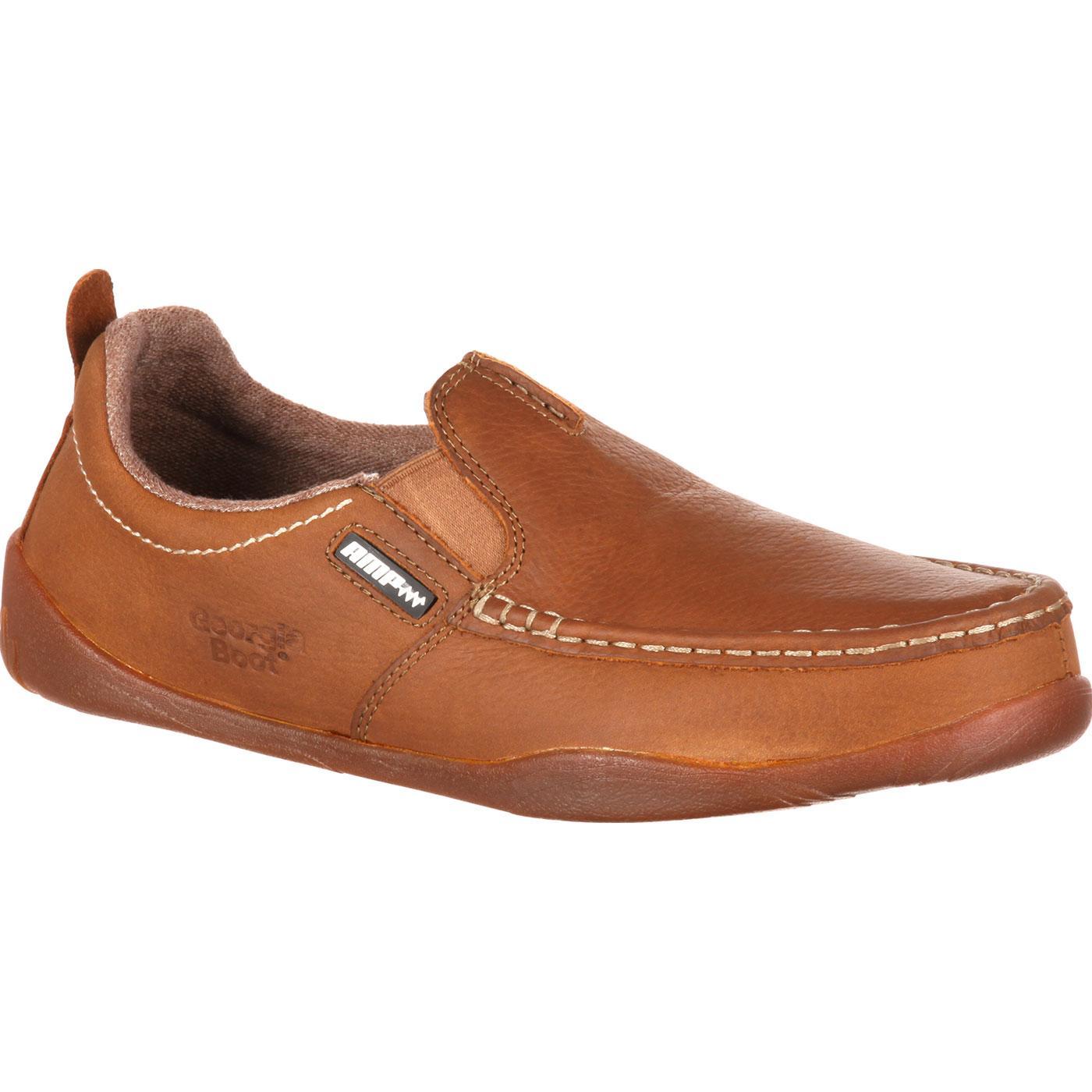 Georgia Boot Cedar Falls Men's ... Moc-Toe Slip-On Shoes B4eWxfTP