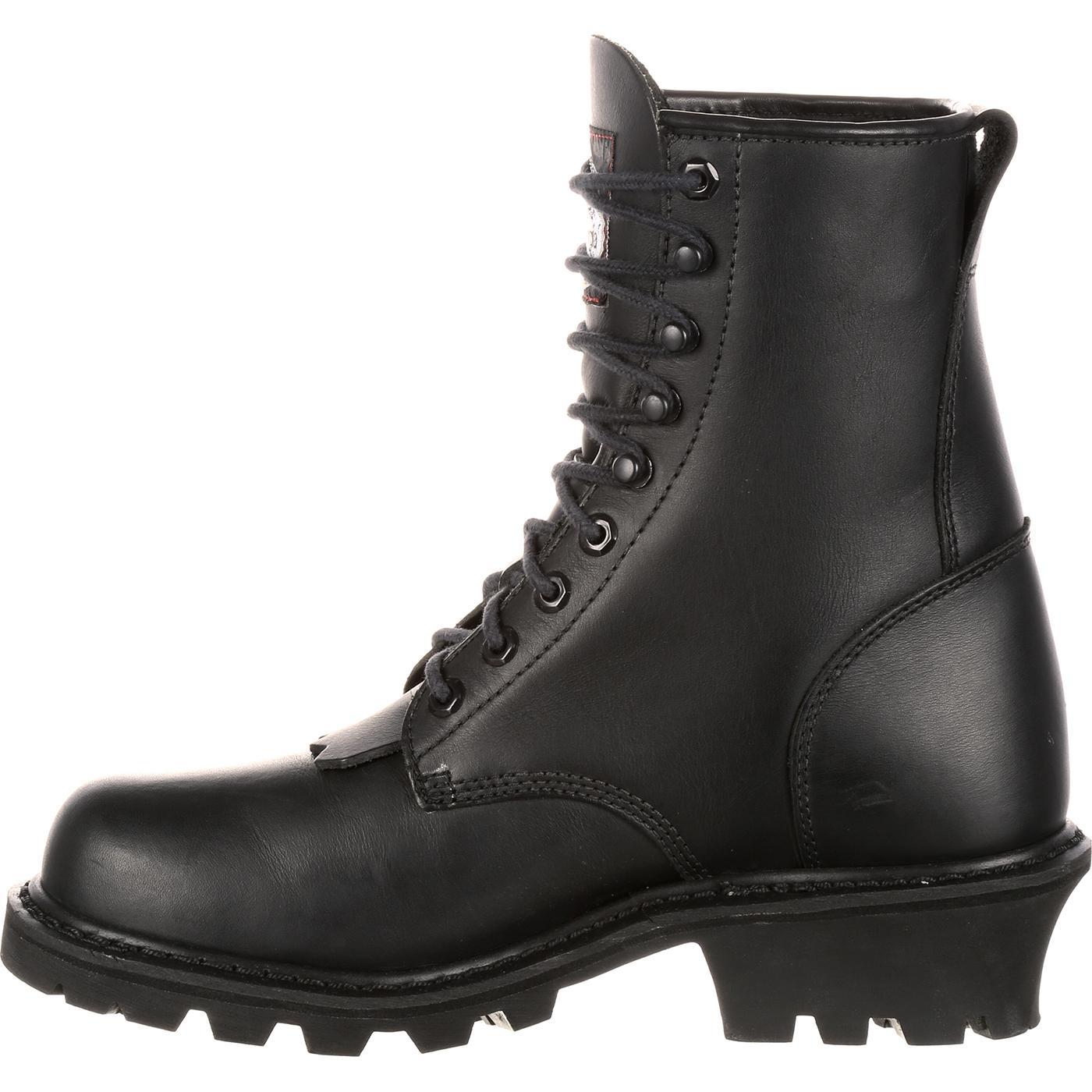 b232cd71ac4 Georgia Boot Black 8-in Logger Work Boot