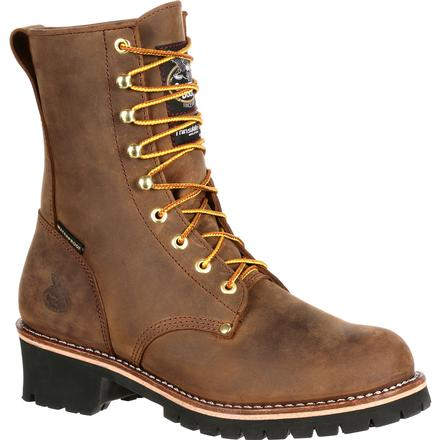 Georgia Boot Steel Toe Waterproof Insulated Logger Work Boot