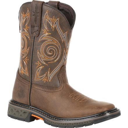 Georgia Boot Carbo-Tec Little Kids Brown Pull on Boot