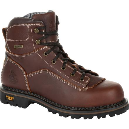 Georgia Boot AMP LT Logger Low Heel Waterproof Work Boot