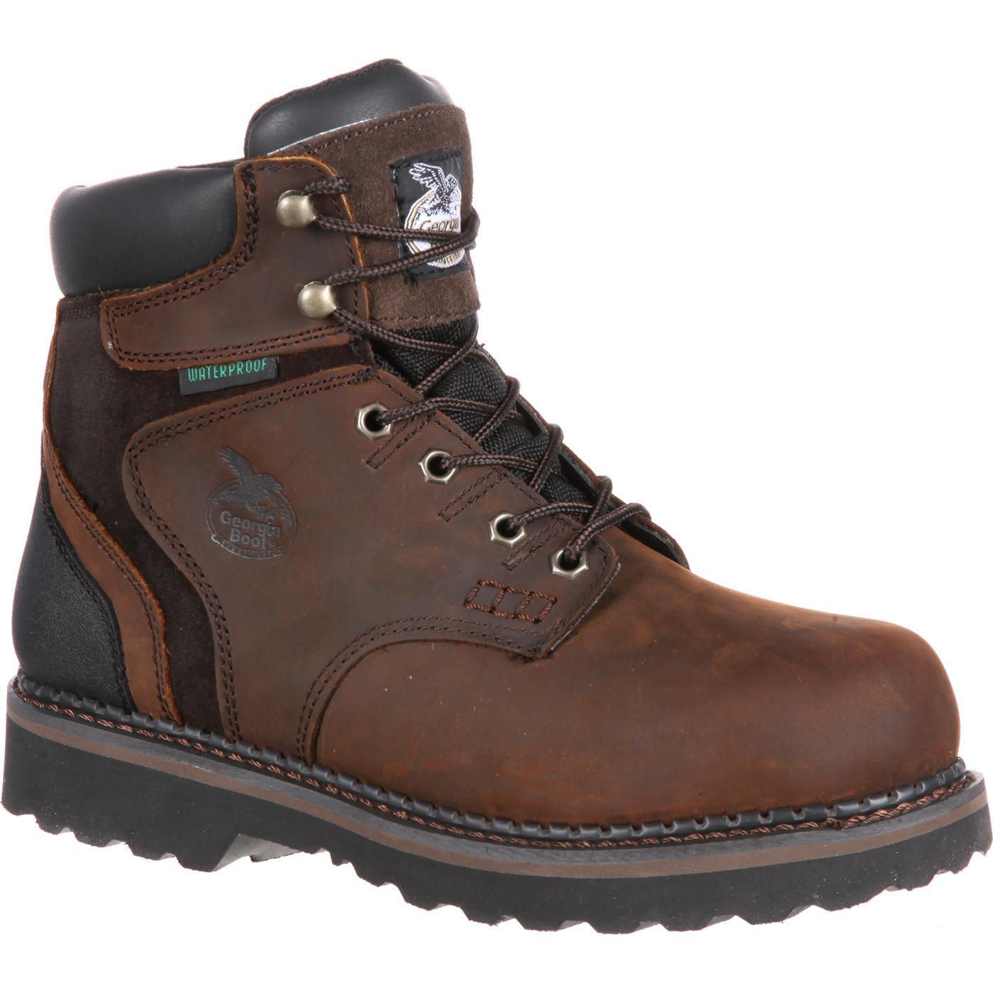 Georgia Brookville Steel Toe Waterproof Work Boot G7334