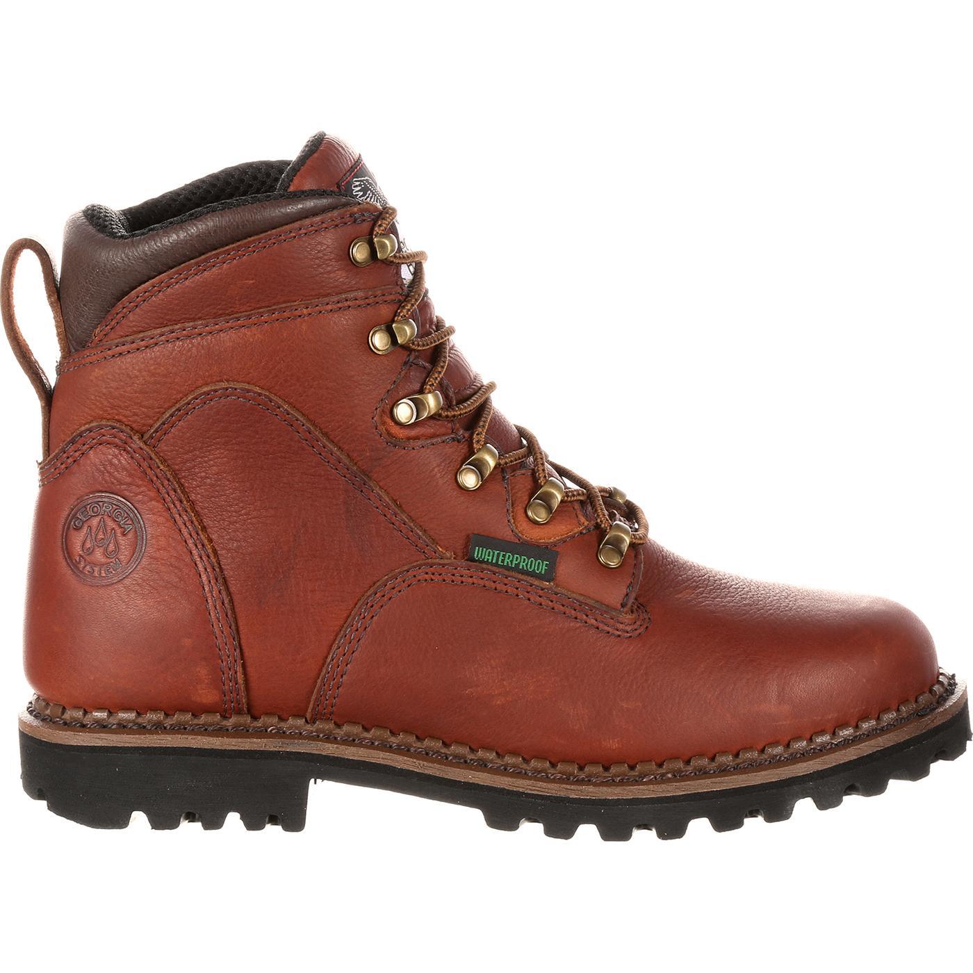 Georgia Boot Homeland Men's ... 6-in. Waterproof Work Boots D1Uy69Gbfc