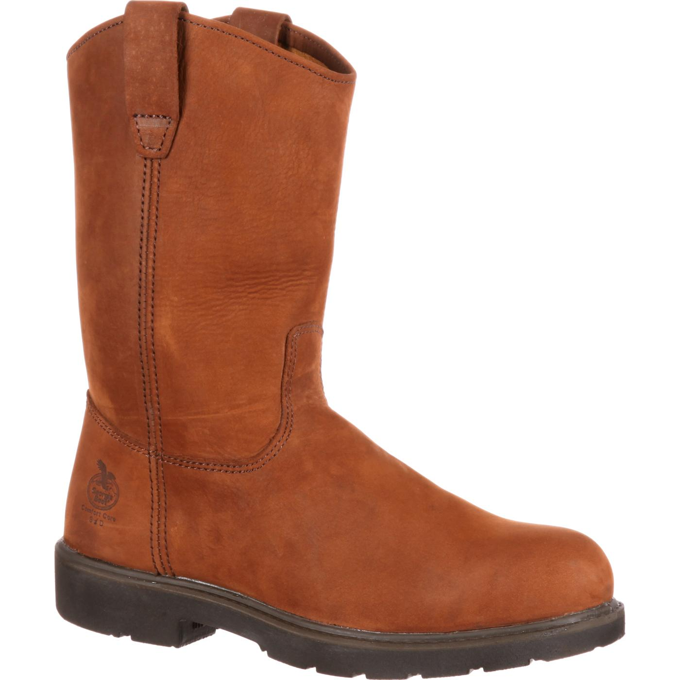 Georgia Boot: Men's Pull-On Steel Toe Work Boots, #G4673