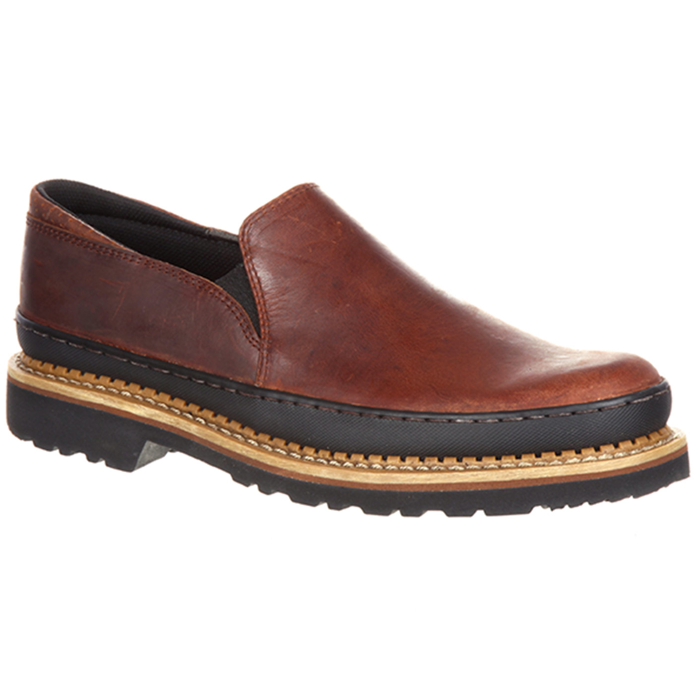 Mens Work Boots Georgia Boot Cut Engineer Shoes Safety Iron Suede Leather Soft Brown Giant Twin Gore Shoe
