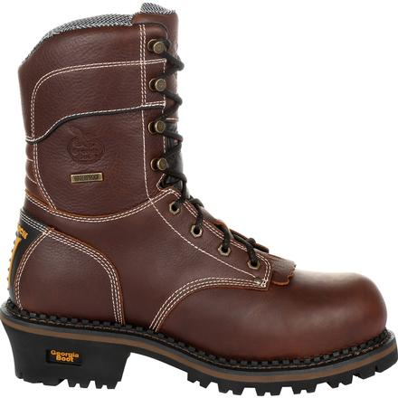 Georgia Boot AMP LT Logger Composite Toe Waterproof 600G Insulated Work Boot, , large