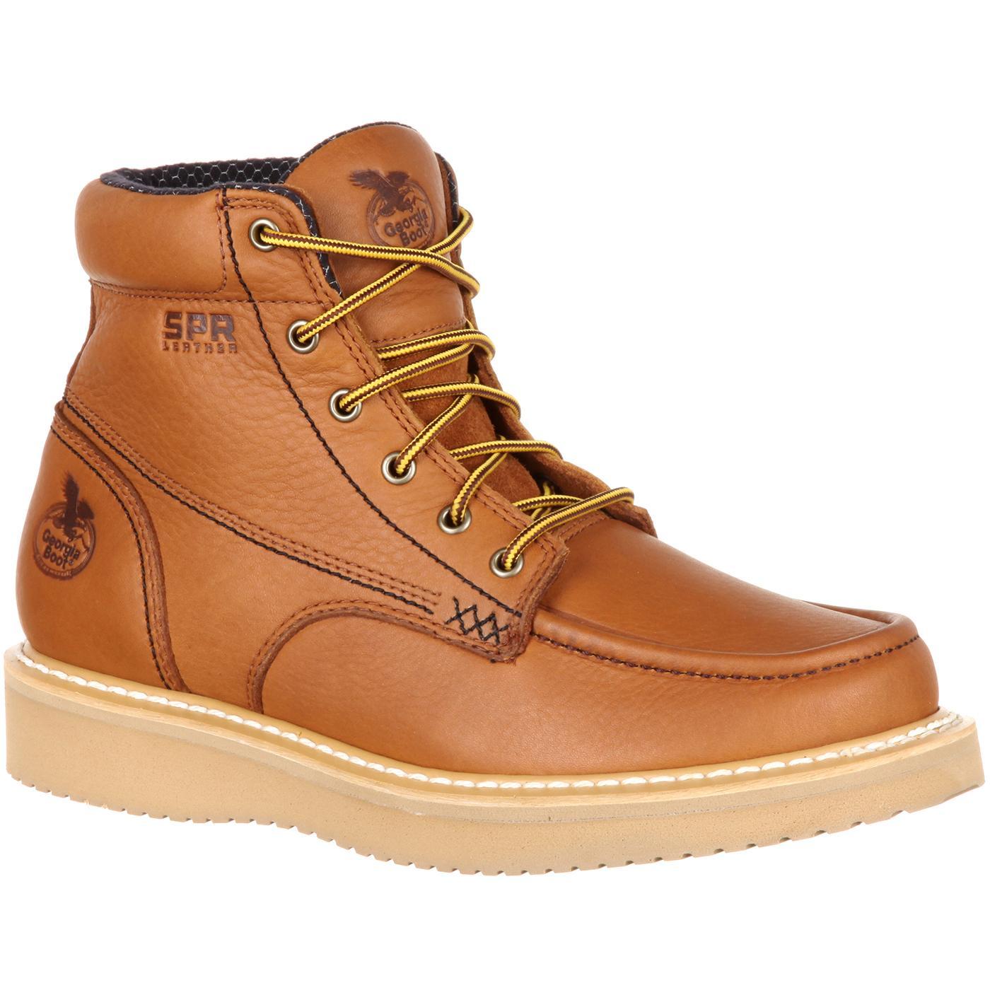 566b7faaf29 Georgia Boot Moc-Toe Wedge Work Boot
