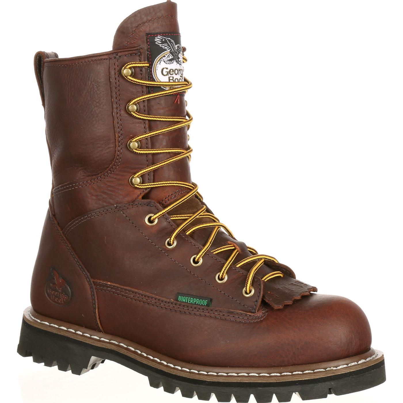 Georgia Steel Toe Waterproof Lace To Toe Work Boot G103
