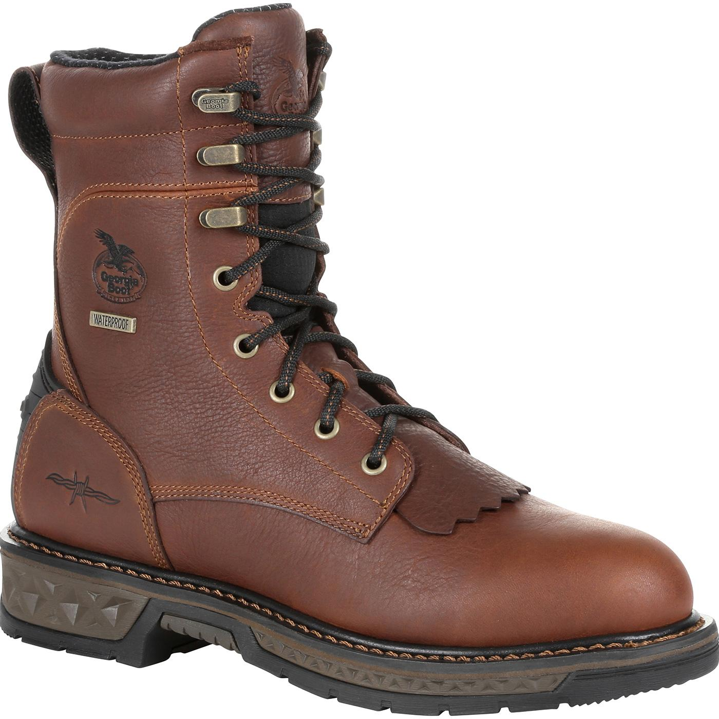 182bbe2ff14 Georgia Boot Carbo-Tec LT Waterproof Lacer Work Boot