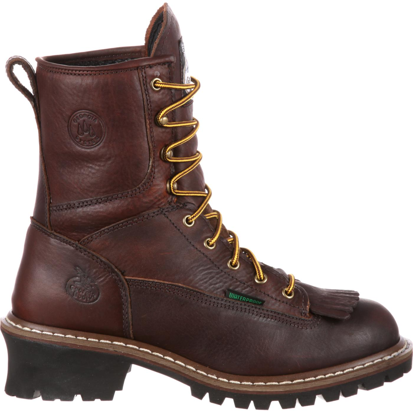 a2251b15322 Georgia Boot Steel Toe Waterproof Logger Boot