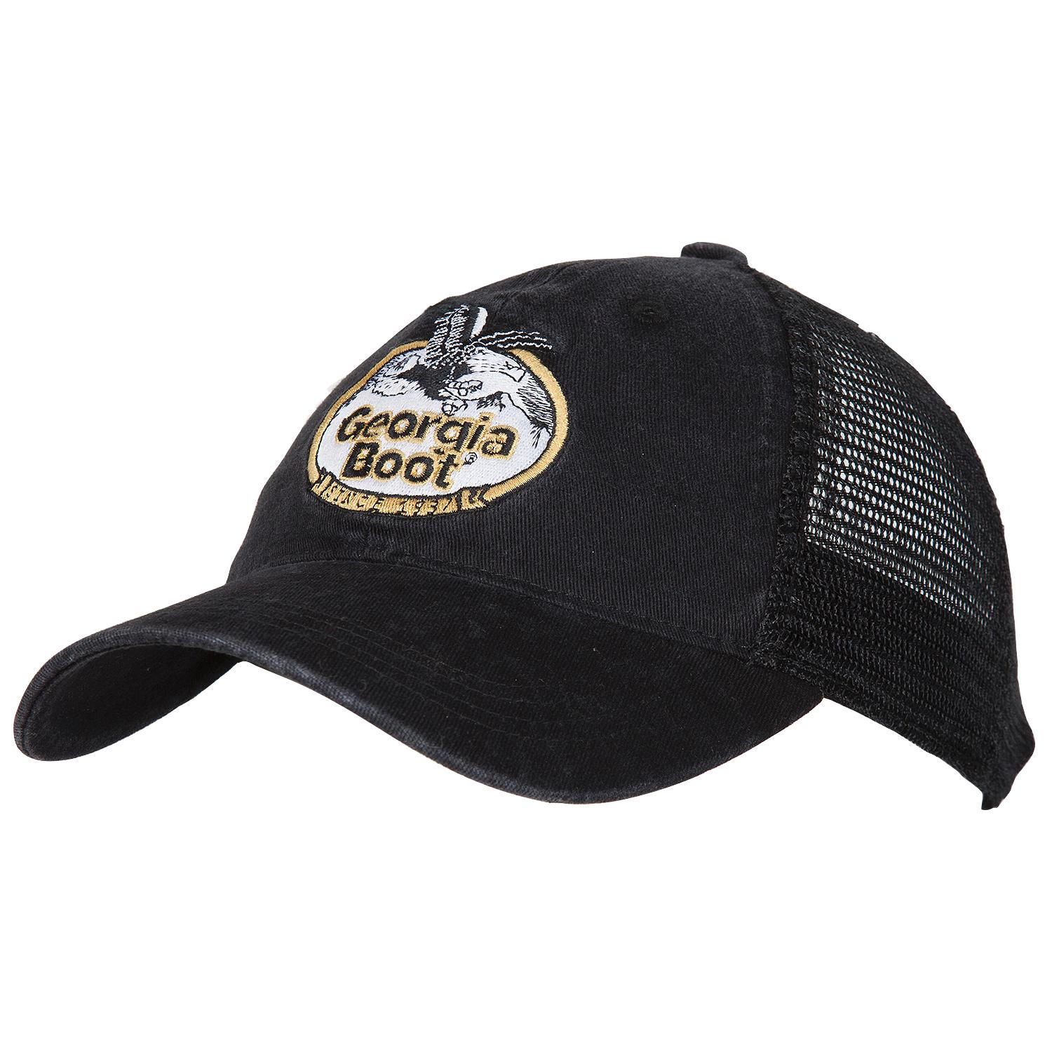 a4827d01579 Georgia Boot Black Trucker Hat with snap close