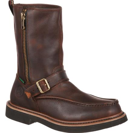 Georgia Boot Side Zip Waterproof Work Wellington, , large