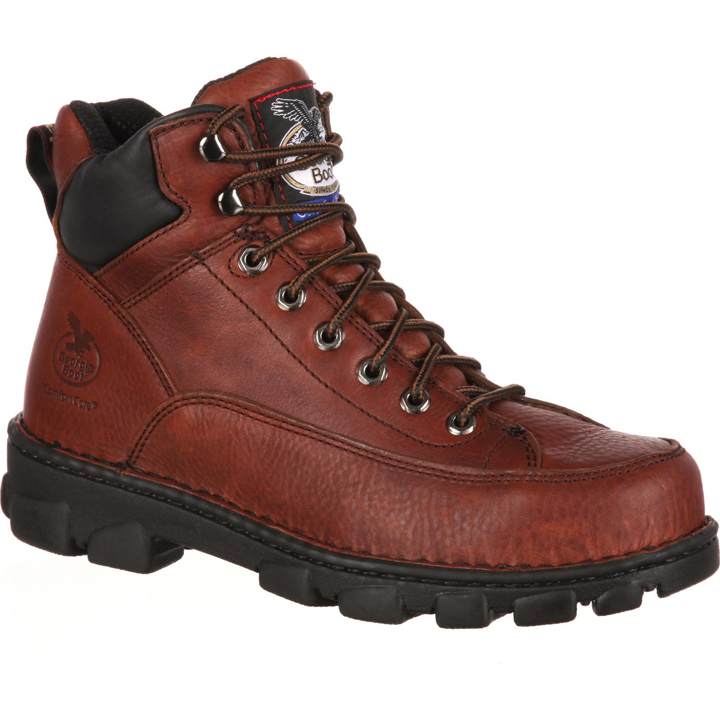 Georgia Boot: Men&39s Eagle Light Steel Toe Work Boots - Style G6395